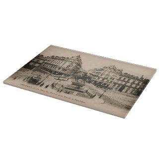 Diseño de la postal del centro de ciudad de Le Tablas De Cortar