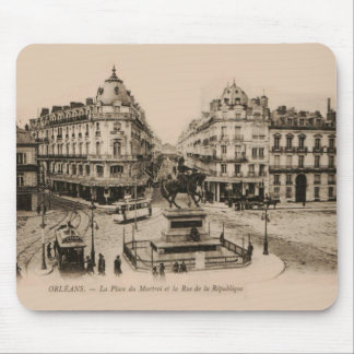 Diseño de la postal del centro de ciudad de Le Alfombrilla De Ratón