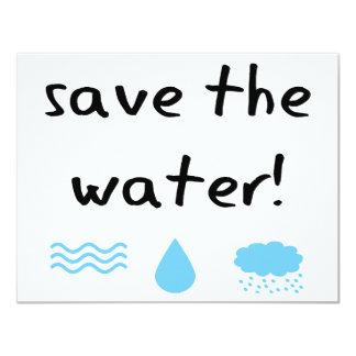 """¡Diseño de la protección de agua! Invitación 4.25"""" X 5.5"""""""