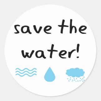 ¡Diseño de la protección de agua Etiqueta