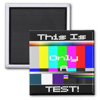 Diseño de la prueba del color imán cuadrado