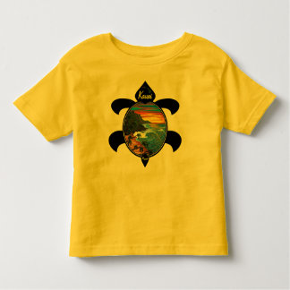 Diseño de la puesta del sol/de la tortuga del Na Tshirts