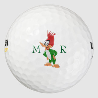 Diseño de la pulsación de corriente con monograma pack de pelotas de golf