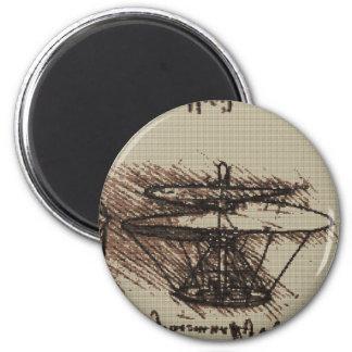 Diseño de la puntada de la cruz del HELICÓPTERO de Imán Redondo 5 Cm