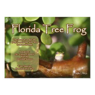 Diseño de la rana arbórea de la Florida con el Anuncio Personalizado