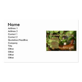 Diseño de la rana arbórea de la Florida con el tex Plantilla De Tarjeta Personal