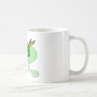 Diseño de la rana arbórea taza básica blanca