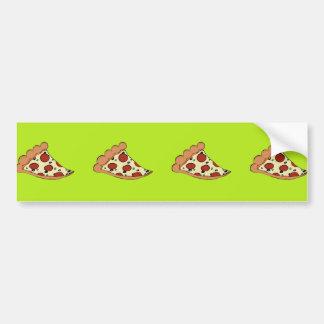 Diseño de la rebanada de la pizza pegatina para auto