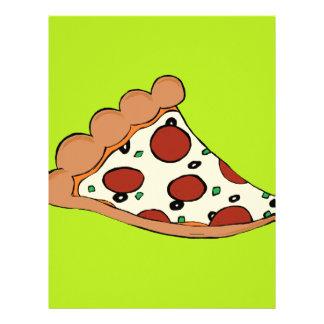 Diseño de la rebanada de la pizza membrete personalizado