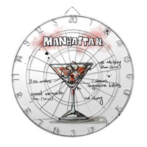 Diseño de la receta de la bebida de Manhattan Tabla Dardos