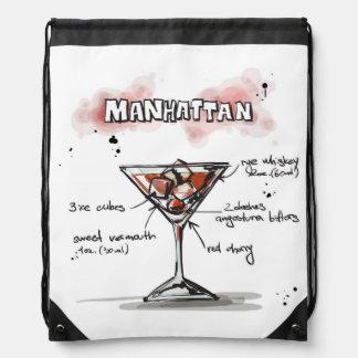 Diseño de la receta de la bebida de Manhattan Mochilas