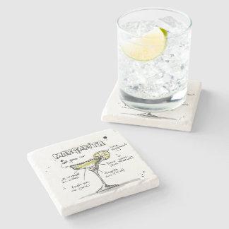 Diseño de la receta de la bebida de Margarita Posavasos De Piedra