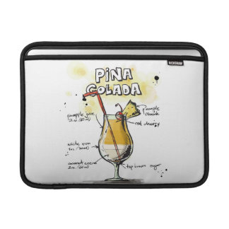 Diseño de la receta de la bebida de Pina Colada Funda Para Macbook Air