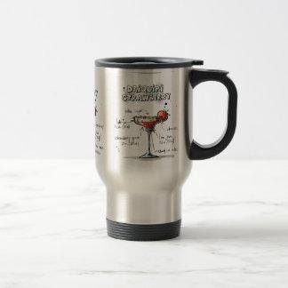 Diseño de la receta de la bebida del daiquirí de taza térmica
