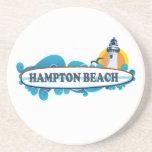 Diseño de la resaca de la playa de Hampton. Posavasos Diseño