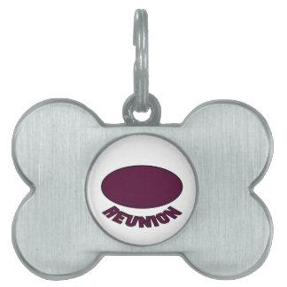 Diseño de la reunión de Borgoña Placas Mascota