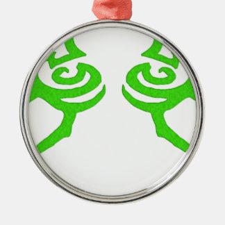 Diseño de la runa de Illidan Adorno Redondo Plateado
