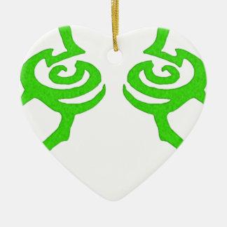 Diseño de la runa de Illidan Adorno De Cerámica En Forma De Corazón
