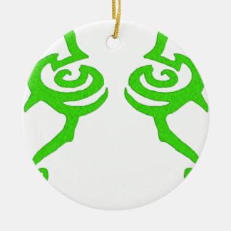 Diseño de la runa de Illidan Adorno Redondo De Cerámica