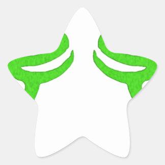 Diseño de la runa de Illidan Pegatina En Forma De Estrella