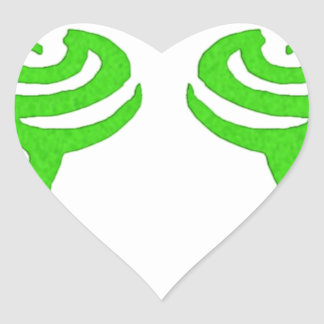 Diseño de la runa de Illidan Pegatina En Forma De Corazón