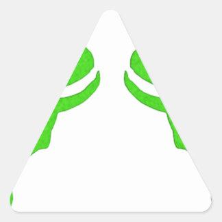 Diseño de la runa de Illidan Pegatina Triangular