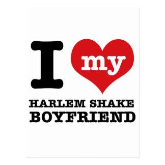 Diseño de la sacudida de Harlem Tarjetas Postales