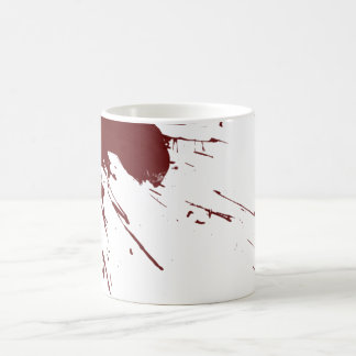 Diseño de la salpicadura de la sangre tazas