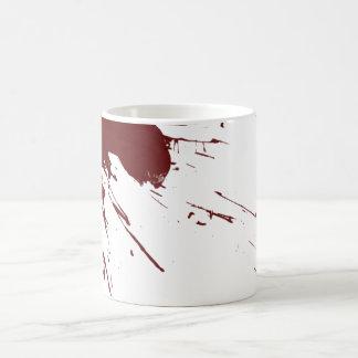 Diseño de la salpicadura de la sangre taza clásica
