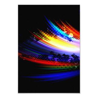 """Diseño de la salpicadura del arte del fractal del invitación 3.5"""" x 5"""""""