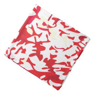 Diseño de la salpicadura del rojo y del blanco bandana