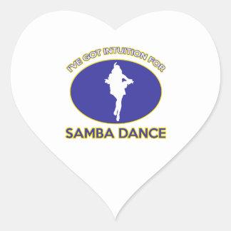 diseño de la samba pegatina en forma de corazón