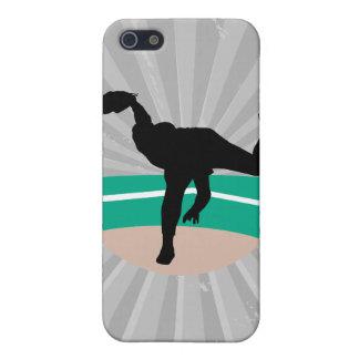 diseño de la silueta de la jarra del béisbol iPhone 5 carcasa
