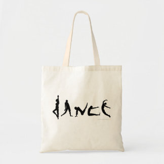 Diseño de la silueta del baile de la danza bolsas de mano