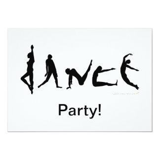 """Diseño de la silueta del baile de la danza invitación 5"""" x 7"""""""