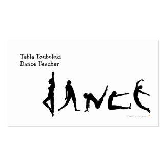 Diseño de la silueta del baile de la danza tarjetas de visita
