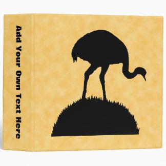 """Diseño de la silueta del pájaro de Rhea Carpeta 2"""""""