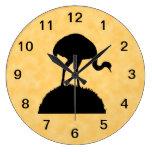Diseño de la silueta del pájaro de Rhea Reloj De Pared