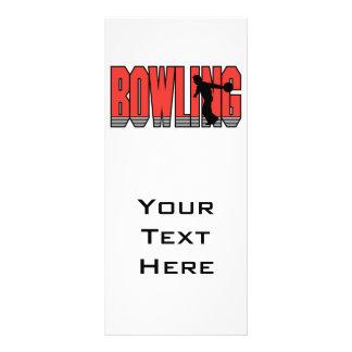 diseño de la silueta del texto de los bolos tarjeta publicitaria personalizada
