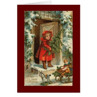 Diseño de la tarjeta de Navidad del vintage