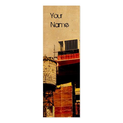 diseño de la tarjeta de visita de la torre de agua