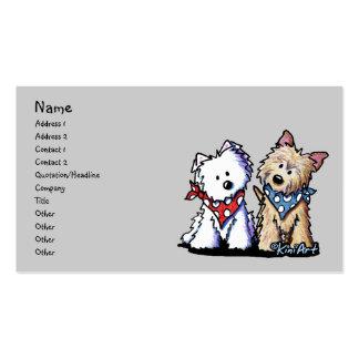Diseño de la tarjeta de visita de los perros con l