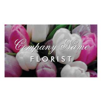 Diseño de la tarjeta de visita del florista con tarjetas de visita