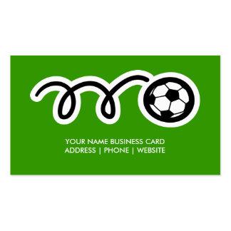 Diseño de la tarjeta de visita del fútbol