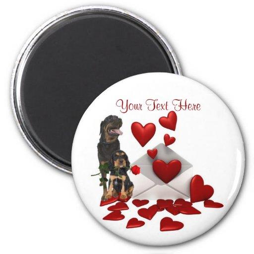 Diseño de la tarjeta del día de San Valentín del r Imán Redondo 5 Cm