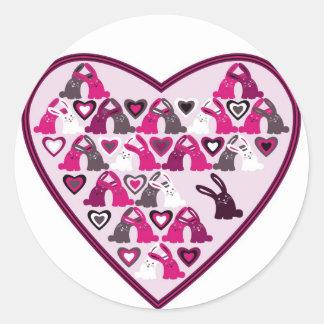 Diseño de la tarjeta del día de San Valentín, Pegatina Redonda