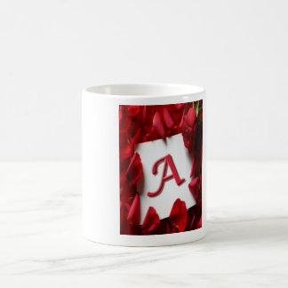 Diseño de la taza de alfabeto de A