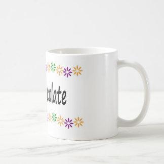 Diseño de la taza del chocolate caliente