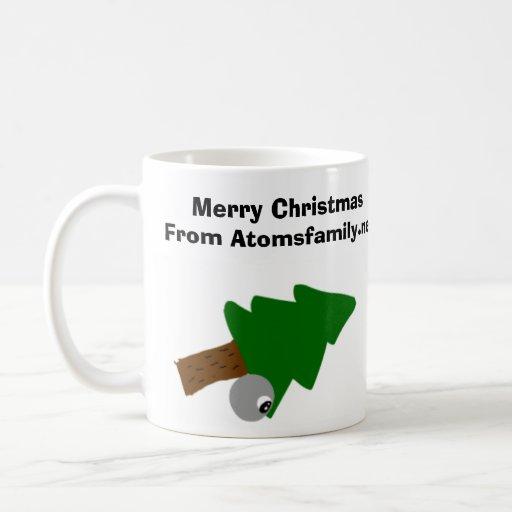 diseño de la taza del navidad de los átomos