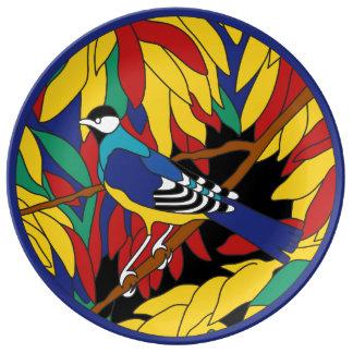 Diseño de la teja de la aguja de los peces espadas platos de cerámica